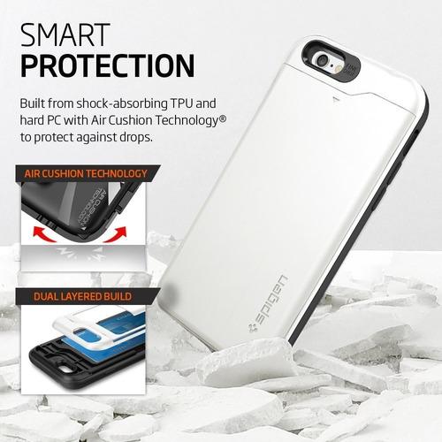 carcasa original spigen slim armor card iphone 6s 6 plus