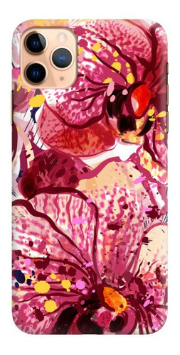 carcasa para celular orquídeas acuarela - phonetify