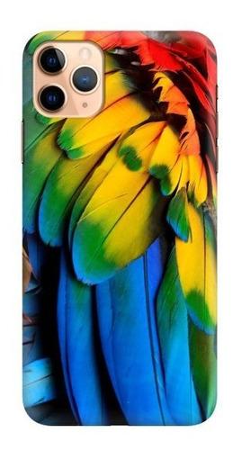 carcasa para celular plumas guacamaya bandera - phonetify
