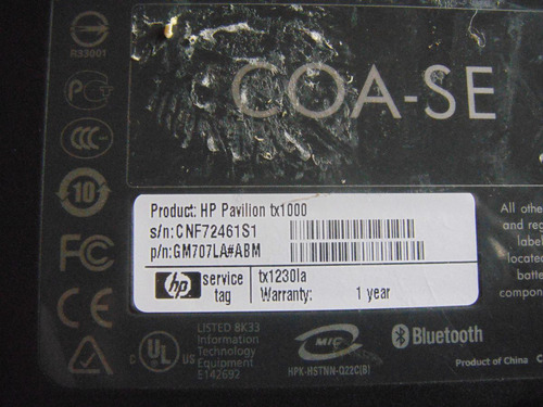 carcasa para hp tx-1000