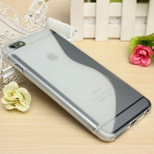 carcasa para iphone 6  plus silicona, cubre bordes