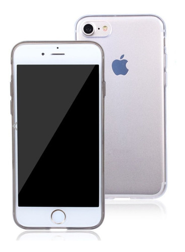 carcasa para iphone 7 / 8 transparente blanda, cubre bordes