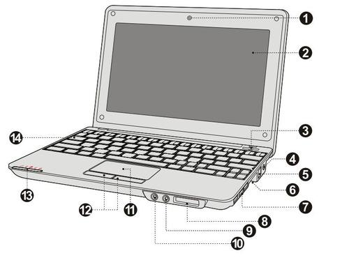 carcasa para netbook coby nbpc892