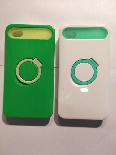carcasa protector celular iphone 4/4s goma fluorec.2x1