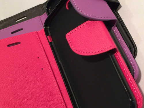 carcasa protector celular iphone 6  flip libro agenda