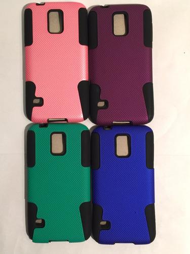 carcasa protector celular samsung s5 rigida colores