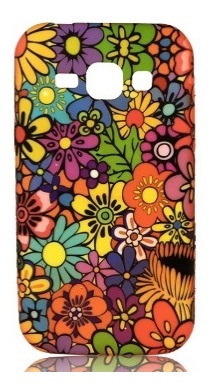 carcasa protector gummy alcatel pop 2 - flores 2