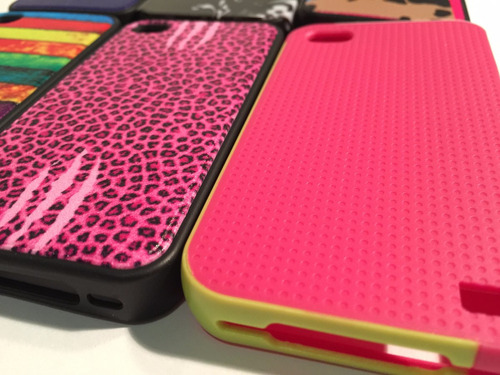 carcasa protector iphone 4/4s goma colores