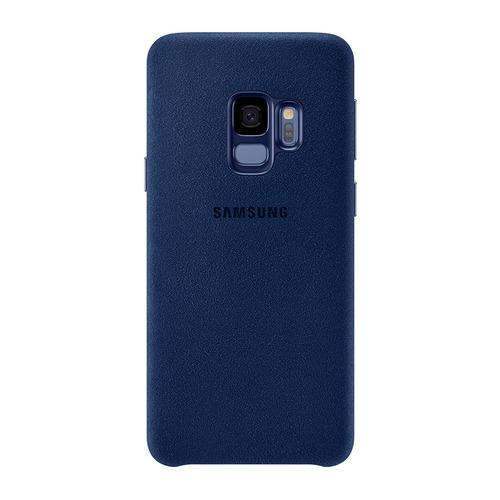 carcasa protectora galaxy s9+ alcantara cover azul samsung