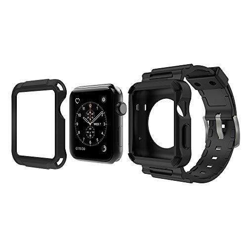 carcasa protectora simpeak c/correa gris p/reloj apple 42mm