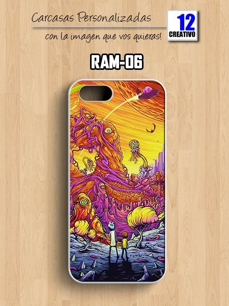 carcasa iphone 5s rick y morty