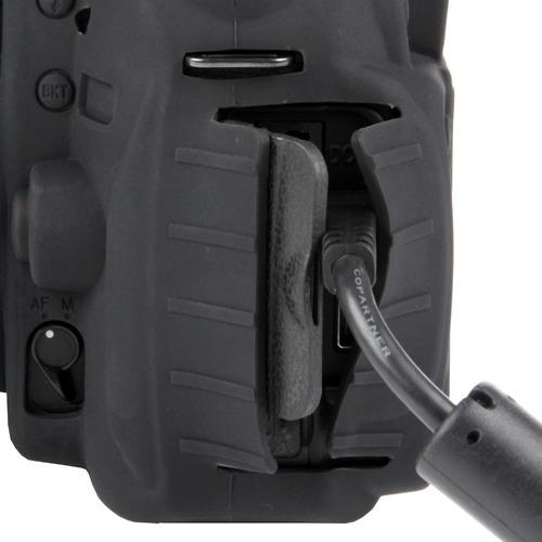 carcasa silicon easycover negro nikon d90 + mica lcd