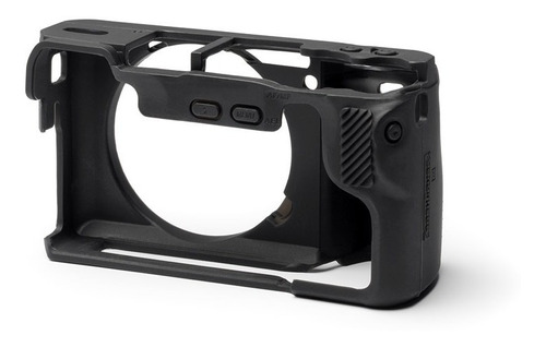 carcasa silicon easycover negro sony a6500 + mica lcd