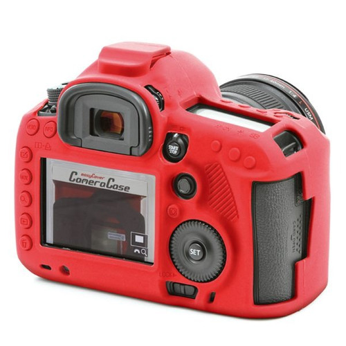 carcasa silicon easycover rojo canon 5d mark iii + mica lcd
