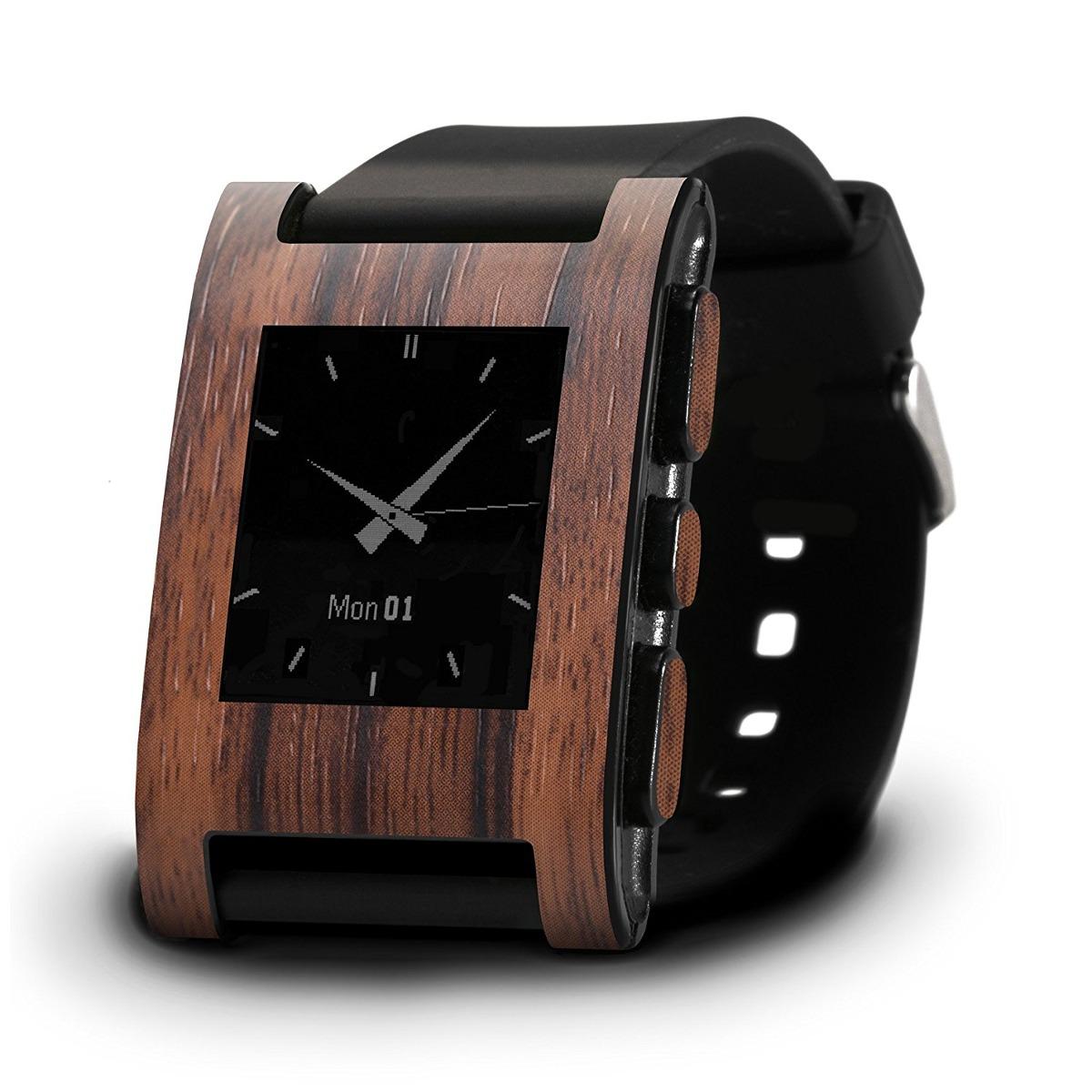 Frustration Carcasa Ébano Slickwrapspebble Wood Skin Reloj PuTXkZOlwi