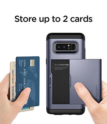 carcasa spigen diseño para tarjeta para galaxy note 8 (2017)