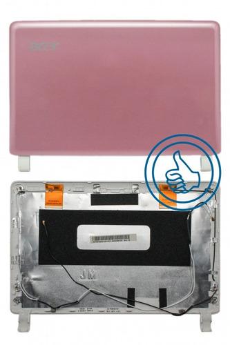 carcasa tapa acer one d250 kav60 rosa ap08400140
