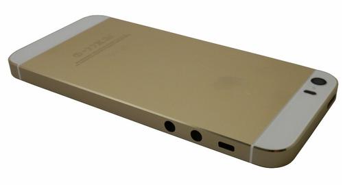 carcasa tapa iphone 5s dorada original c / botones