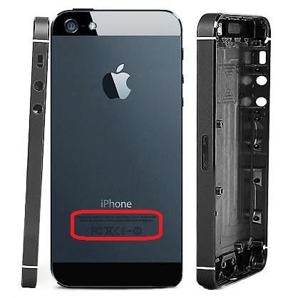 carcasa tapa original iphone 5 negra y plata