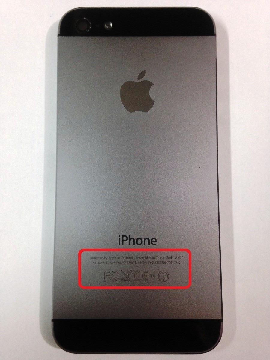 4d8074933c3 Carcasa Tapa Original iPhone 5 Negra Y Plata - $ 449.00 en Mercado Libre