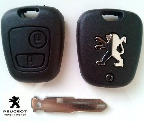 carcasa telemando llave peugeot dos botones nuevo espadin