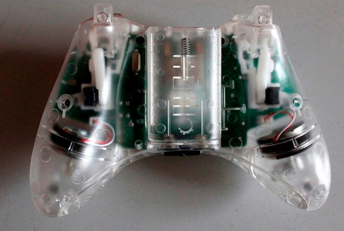 carcasa transparente blanca o negra para control xbox 360