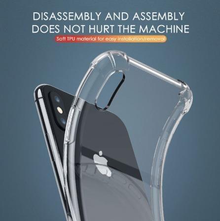 carcasa transparente iphone 11, pro, max + lamina nuglas