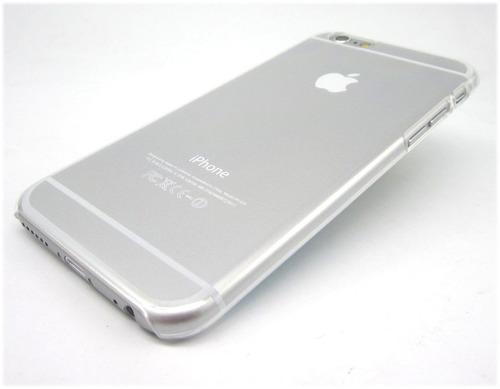 carcasa transparente para iphone 6/6 plus + lámina de vidrio