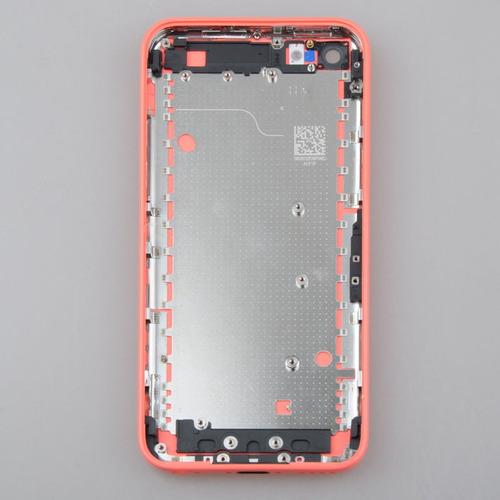 carcasa trasera oem pink iphone5c marco bisel con lente cama