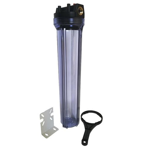 carcasa trasparente 20 pulgada cartucho ion slim filtro agua