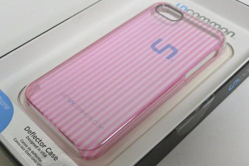 carcasa uncommon iphone 5 5s iphone se rosada transparente