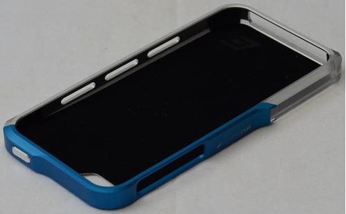 carcasa vapor pro aluminio para iphone 5-5s plateado/azul