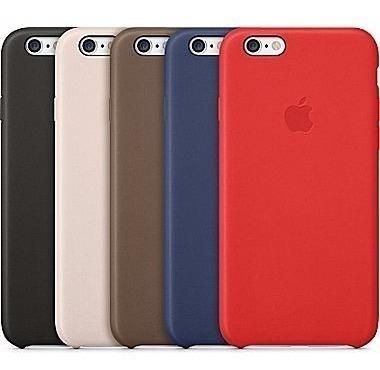 carcasas funda apple eco cuero iphone 6 y 6s colores