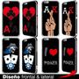 Carcasa Iphone 6-6s-plus-se-5s-4s Poker Cartas Mano