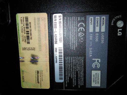 carcaza inferior notebook lg e500