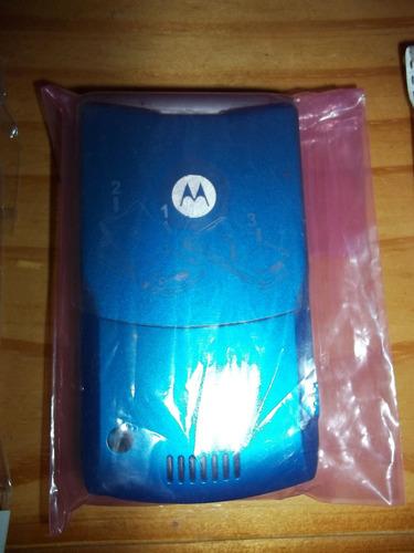 carcazas motorola v3 (azul y violeta) nueva.
