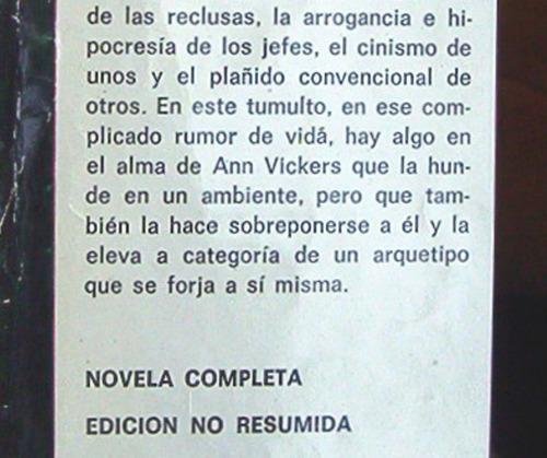carceles de mujeres sinclair lewis novela