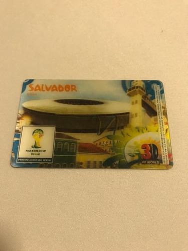 card 3d salvador copa 2014 14 espanha x holanda cartão
