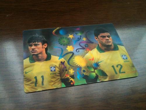 card adrenalyn copa 14 - double trouble - brasil brazil