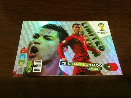 card adrenalyn copa 2014 - limited edition - cr ronaldo