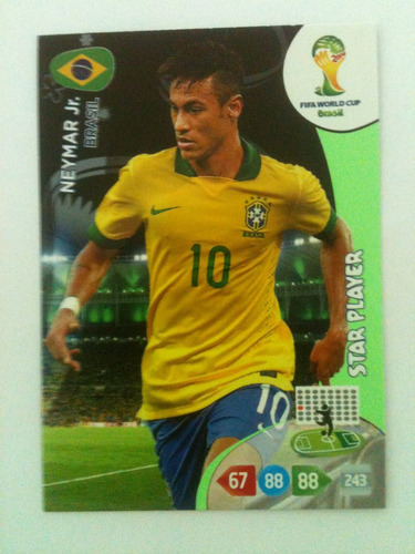 card adrenalyn copa 2014 - star player - neymar jr.