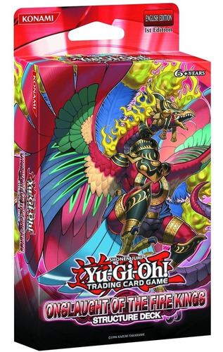 card deck yu-gi-oh! estrutural investida dos reis de fogo