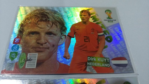 card  limited edition dirk kuyt  copa 2014 raro adrenalyn