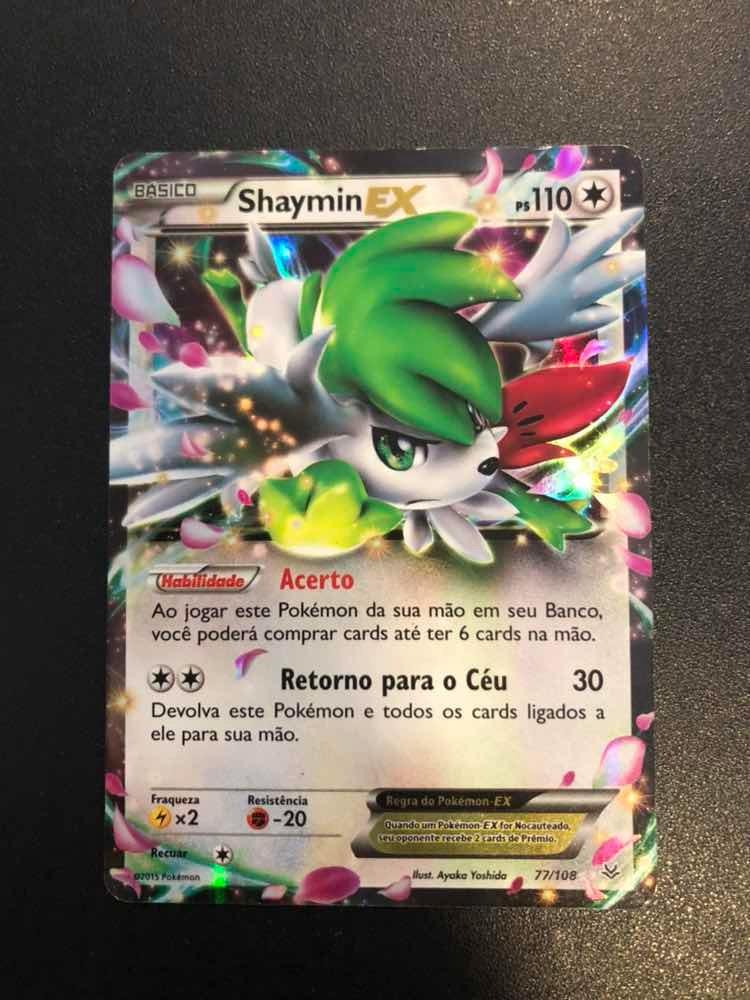 Card Pokemon Shaymin Ex R 4500 Em Mercado Livre