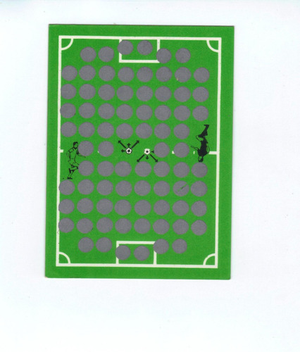 card raríssimo e original do álbum game card copa 86.