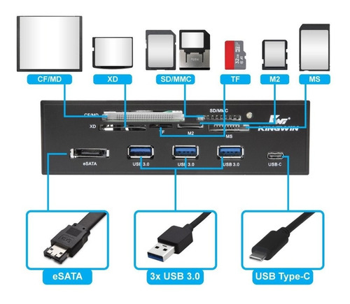 card reader interno para pc usb 3.0