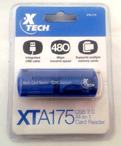 card reader lector memorias xtech xta-175 usb 2.0 todo en 1