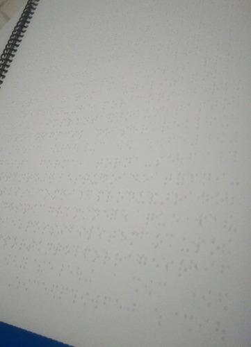 cardápio em braille - impressão em braille