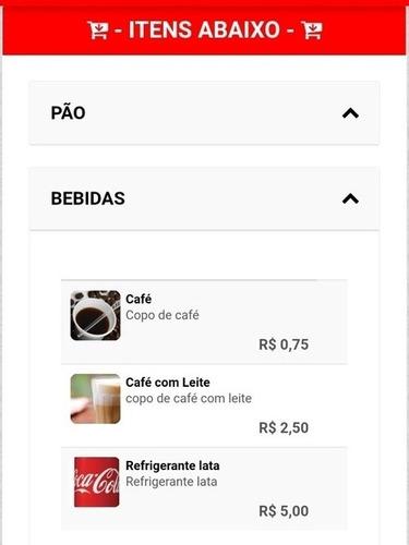 cardápio online delivery