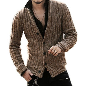 Cardigan / Sweater / Chaleco Hombre Slimfit